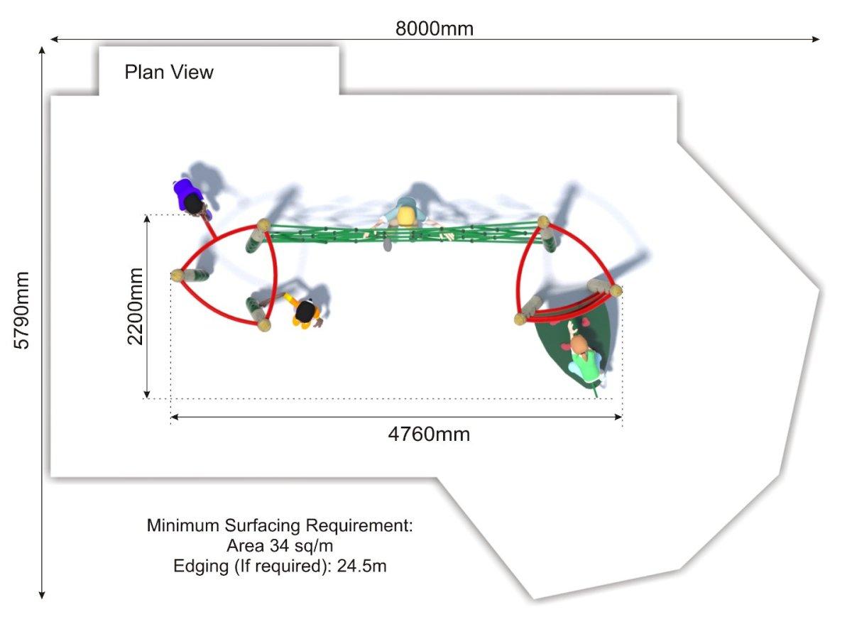 Xplorer 1 Climbing Frame plan view