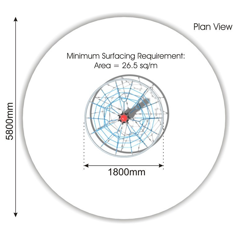 Cone Climber 1800 plan view