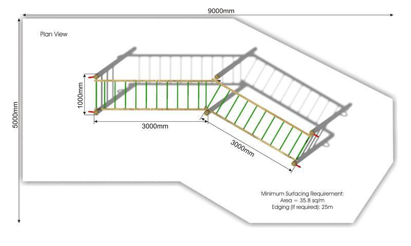 Double Horizontal Ladder plan view