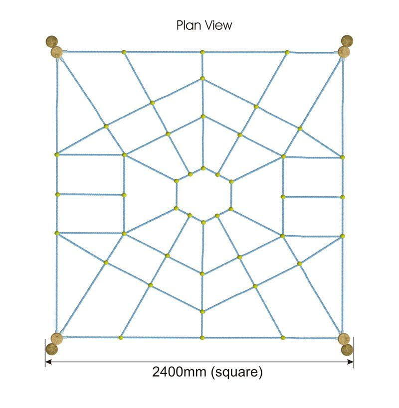 Spider Web plan view