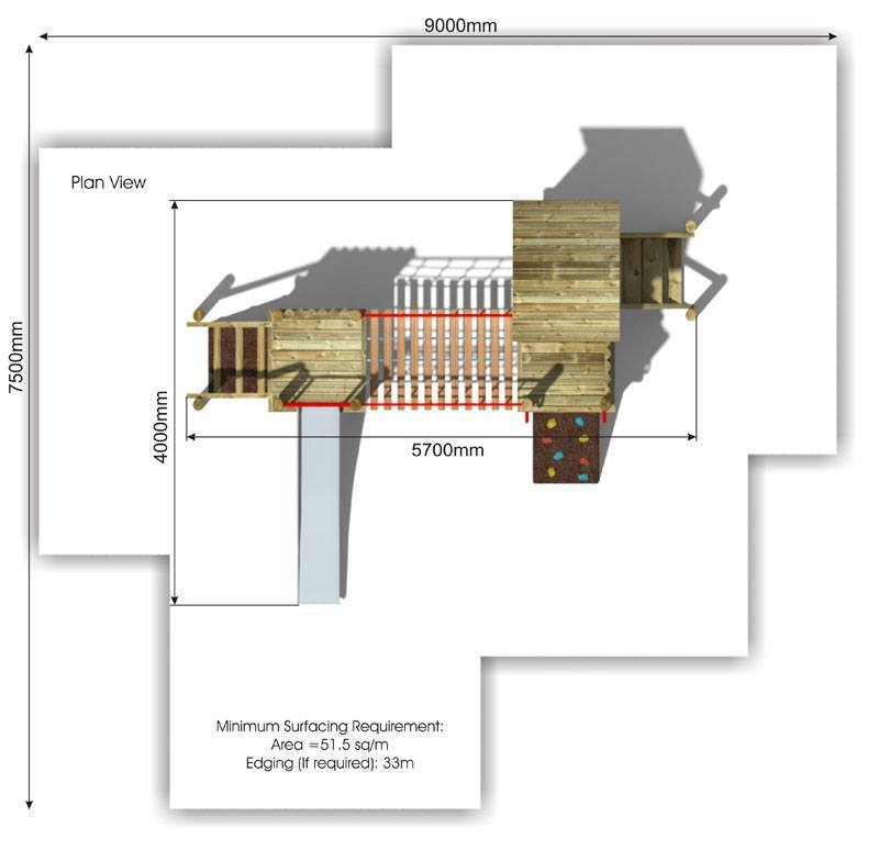 Waxham 3 Play Tower plan view
