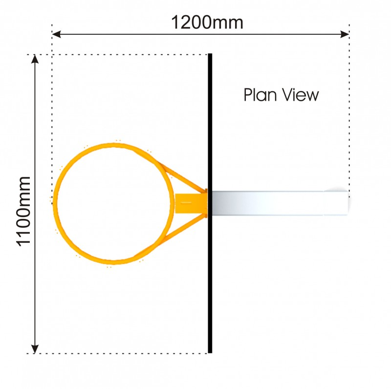 Basketball Hoop plan view
