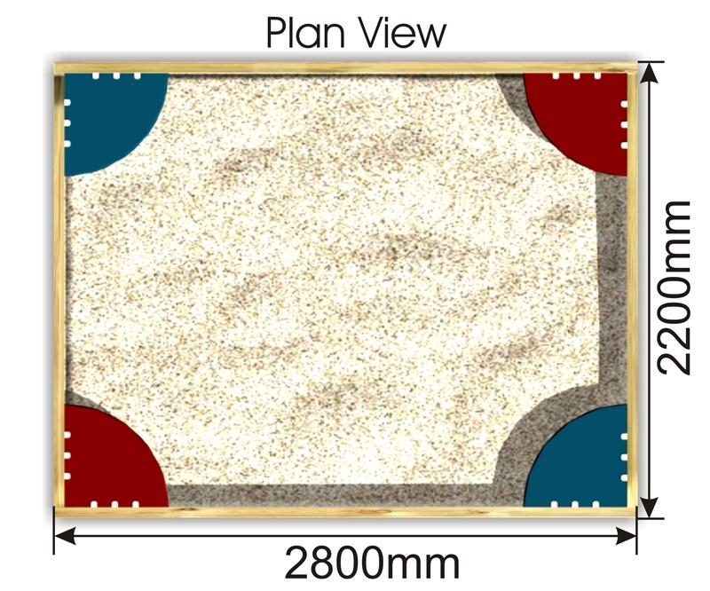 Sand Pit plan view