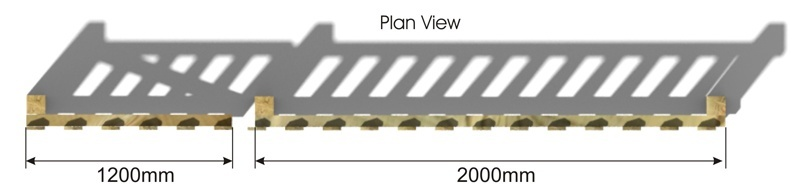 Timber Fence plan view