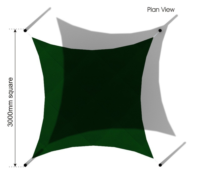 Square Sail Shade plan view