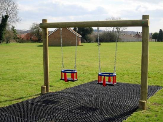 safer grass - safety surface under toddler swings