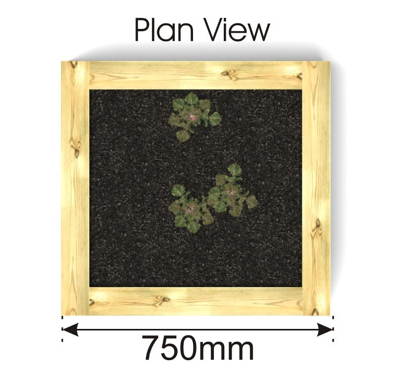 Timber Planters plan view