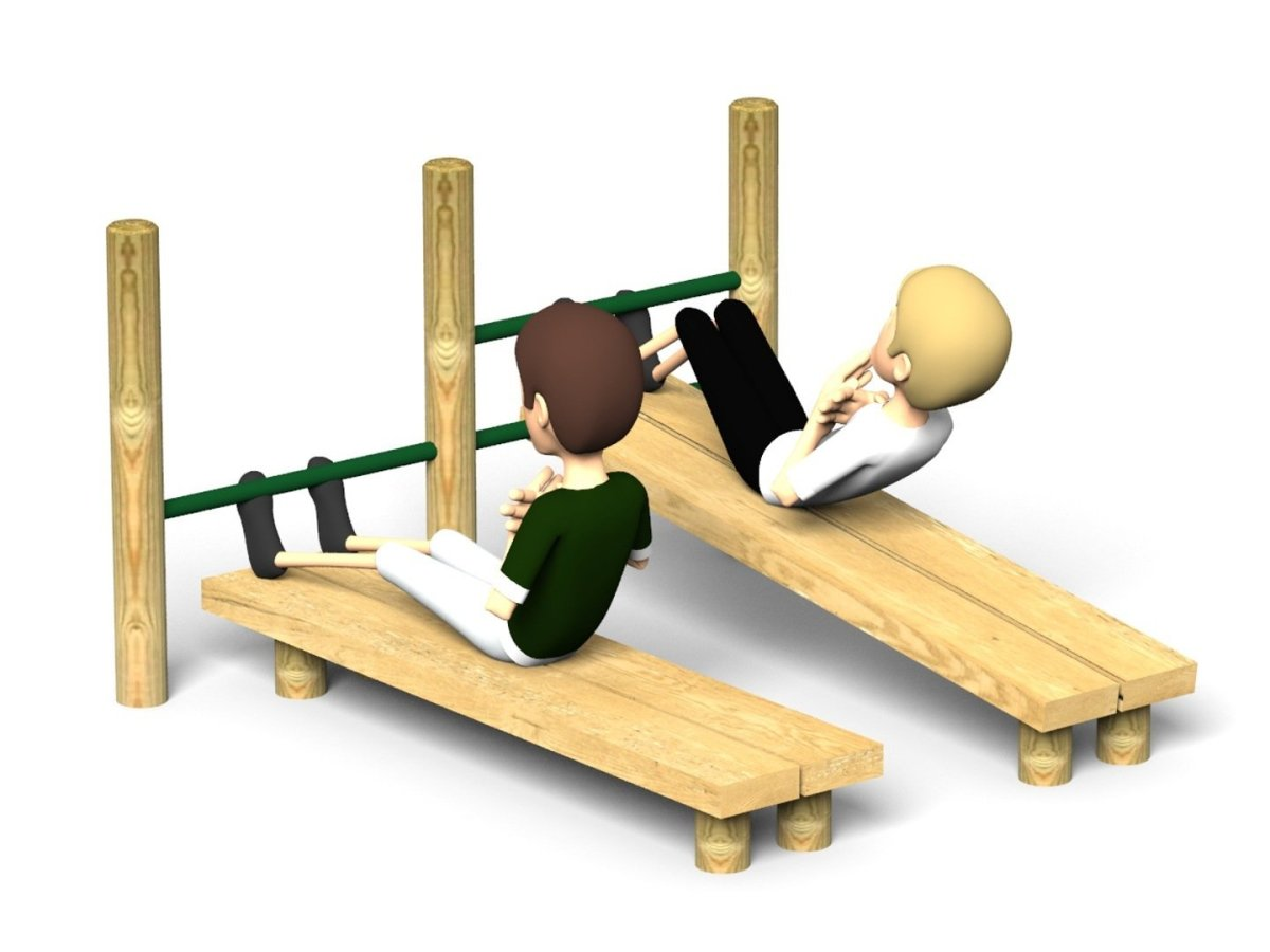 double abs bench for sit ups