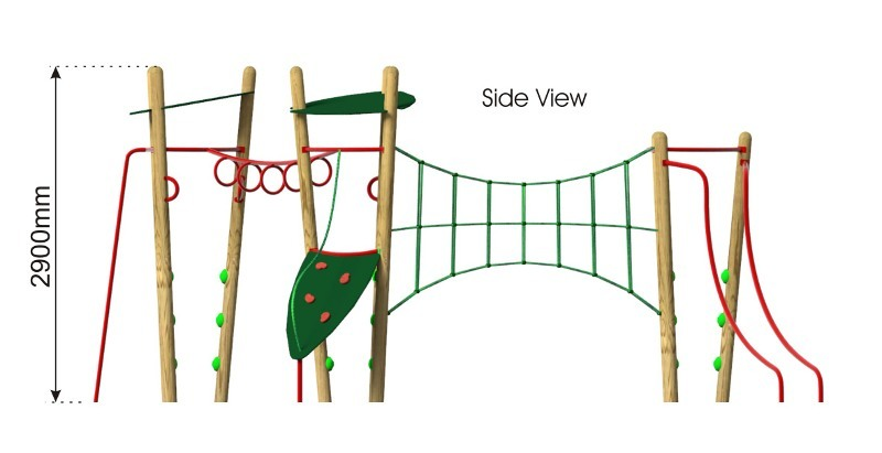 Xplorer 3 Climbing Frame side view