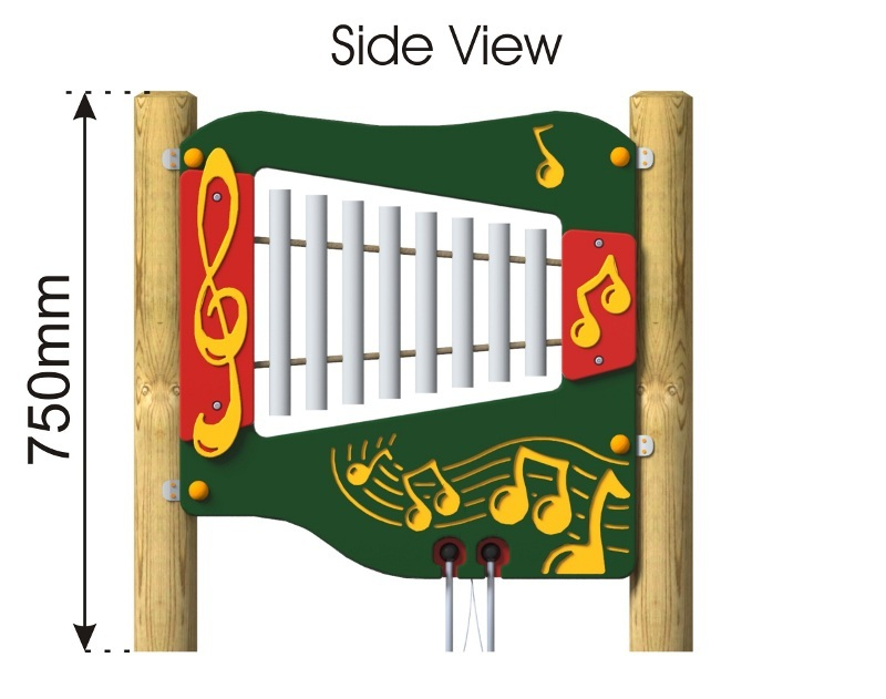 Ally Tube Glockenspiel Panel side view