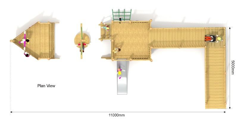 Blakeney Play Ship with Ramp plan view