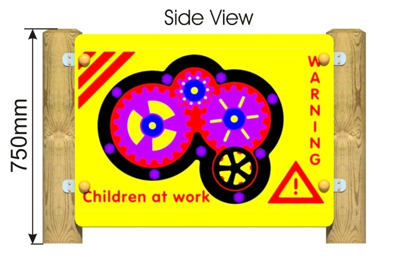 Children at Work Panel side view
