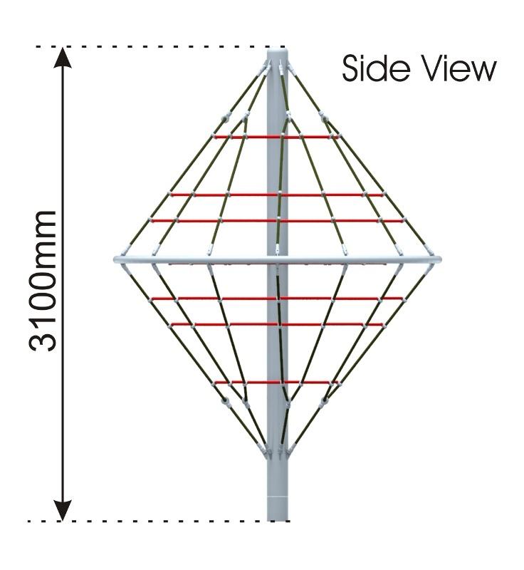 Diamond Cone Climber side view