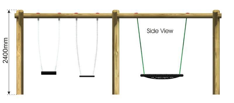 Flat & Nest Swing 10 side view