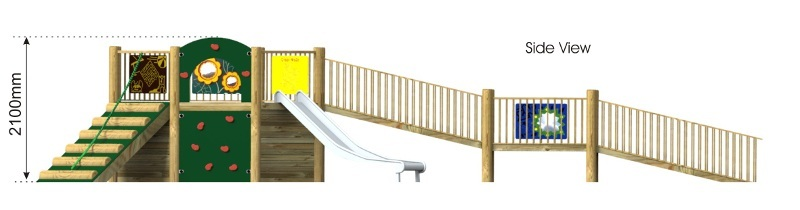 Foxley 1 Inclusive Play Tower side view