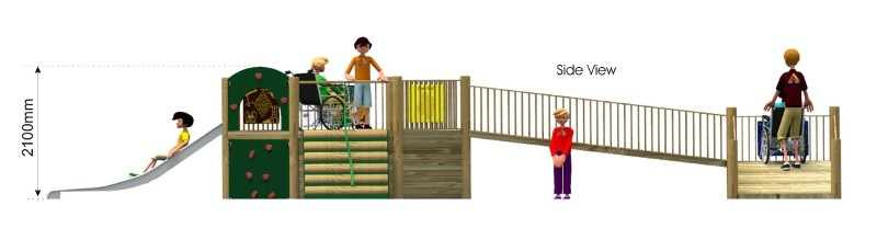 Foxley 2 Inclusive Play Tower side view
