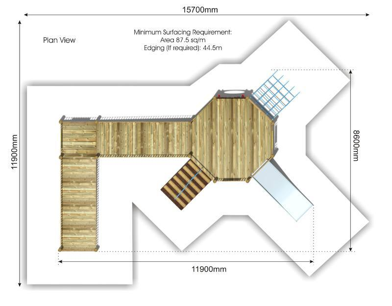 Foxley 3 Inclusive Play tower plan view