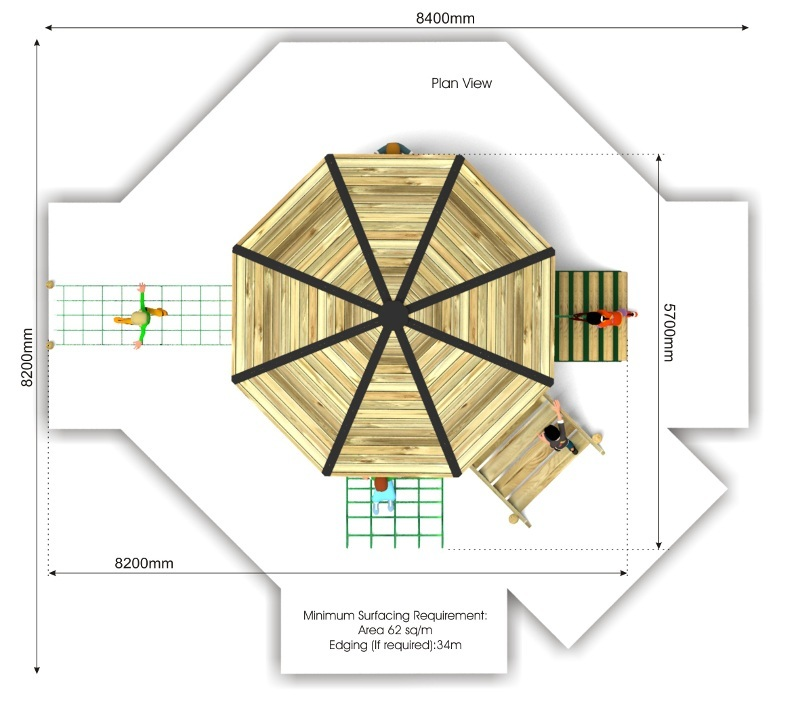 Foxley 6 Inclusive Play Tower plan view