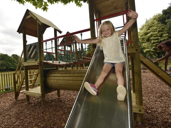 Litcham play tower slide