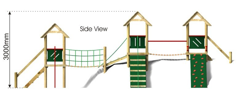 Great Waltham Play Tower side view