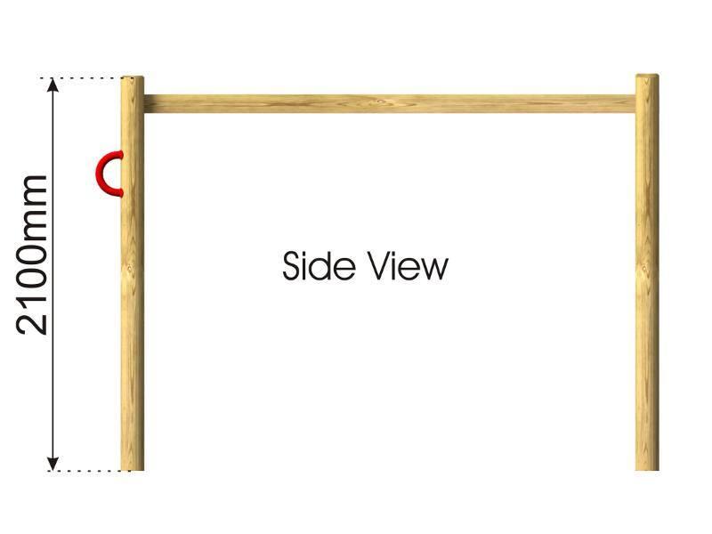 Horizontal Ladder | Monkey Bar side view