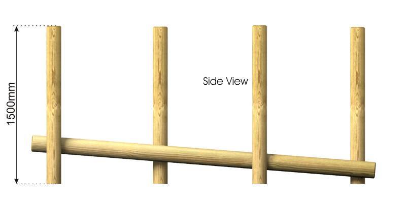 Inclined Balance Weave side view