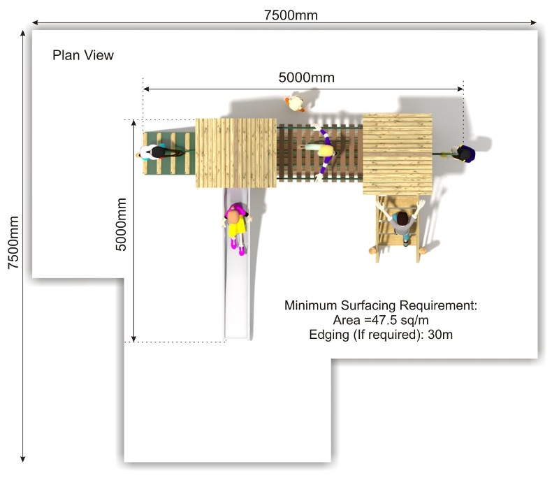 Litcham 14 Play Tower plan view