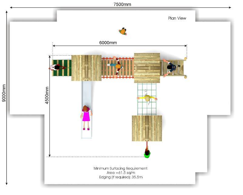 Litcham 17 Play Tower plan view