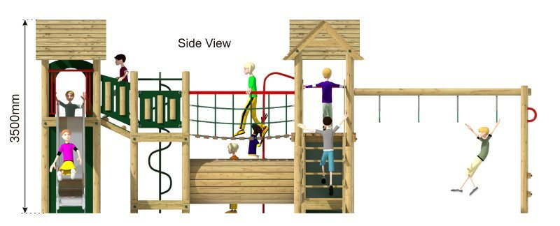 Litcham 20 Play Tower side view