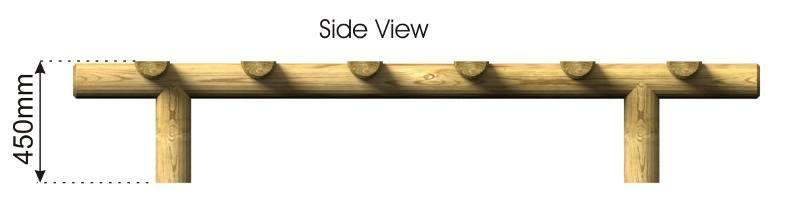 Log Run side view