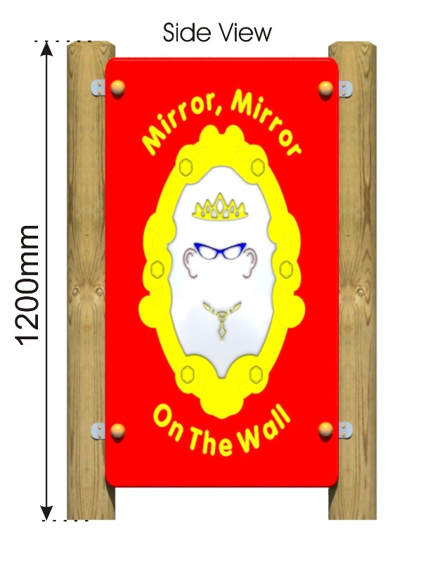 Mirror Girl Panel side view