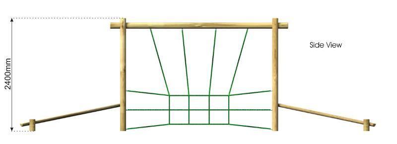 Net Crossing side view