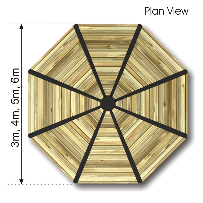 Octagonal Shelter with HDPE Panels plan view