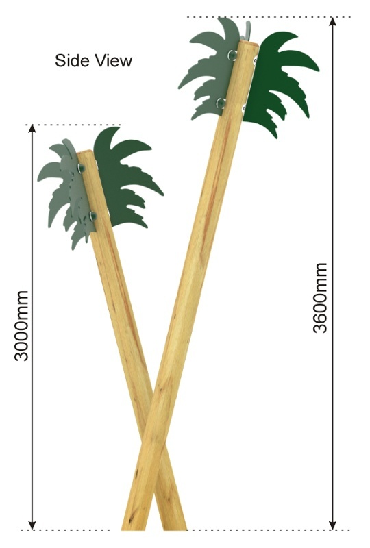 Palm Trees side view