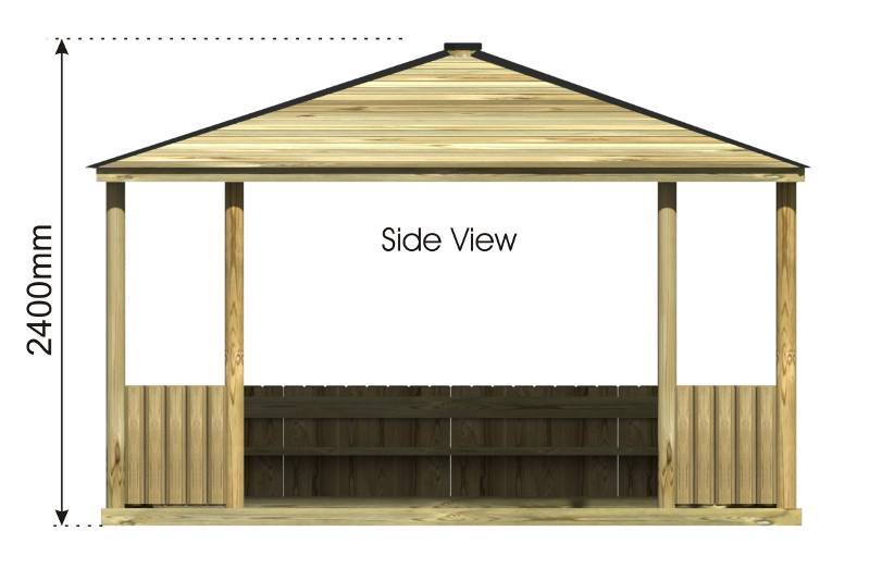 Rectangular Outdoor Classroom side view
