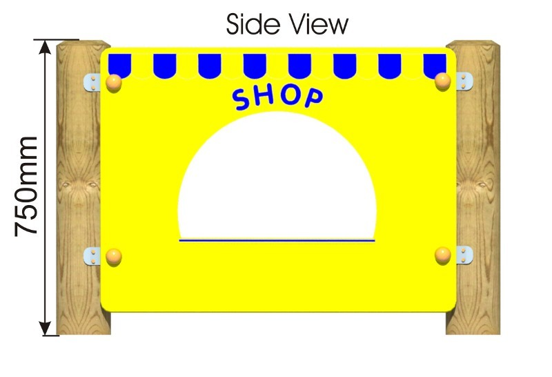 Shop Front Panel side view
