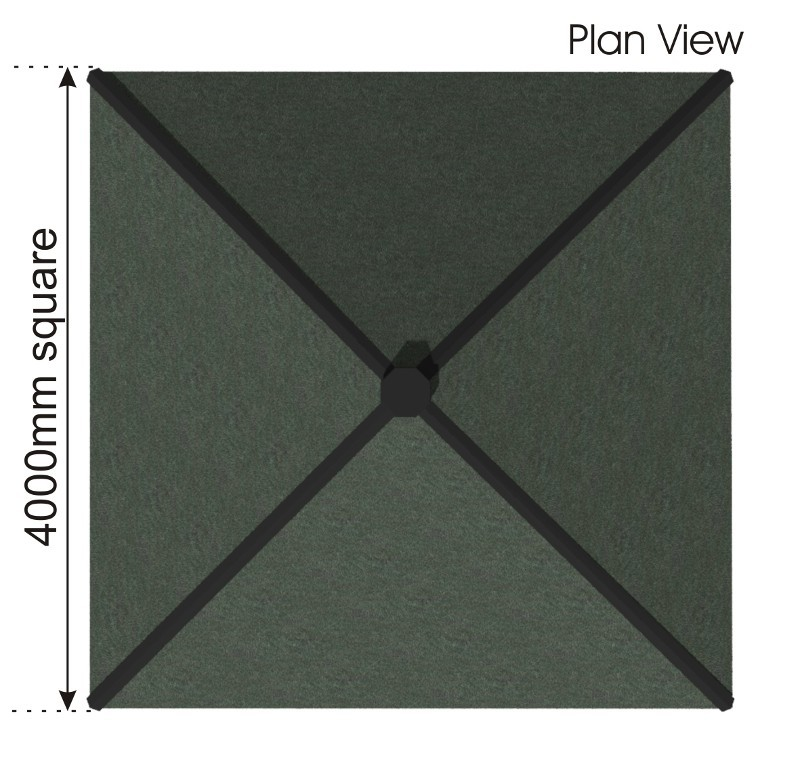 Square Shelter plan view