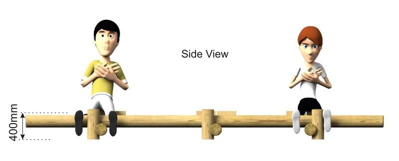 Triple Sit Ups Bench side view