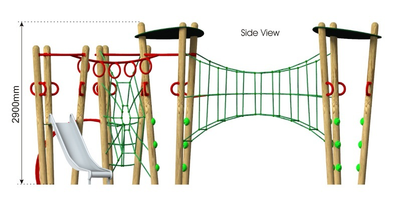 Xplorer 7 Climbing Frame side view