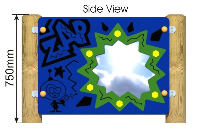 Zap Mirror Panel side view