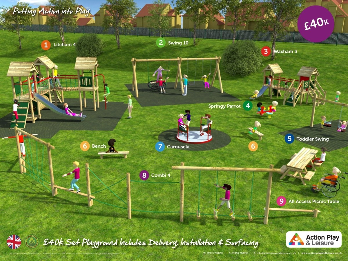 £40,000 Ready Designed Playground side view