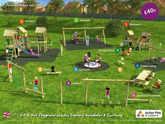 £40,000 ready designed playground