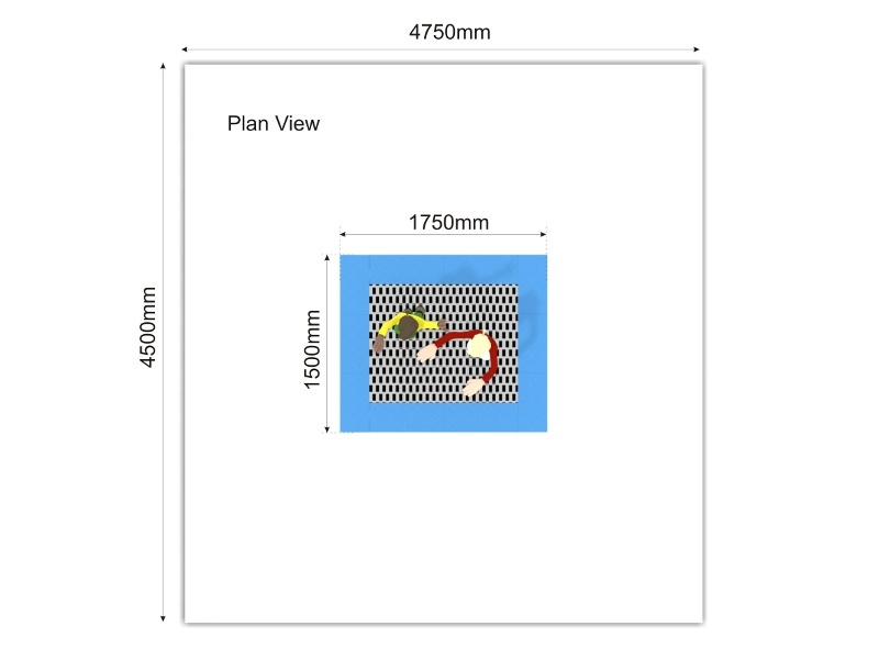 Trampoline Medium plan view