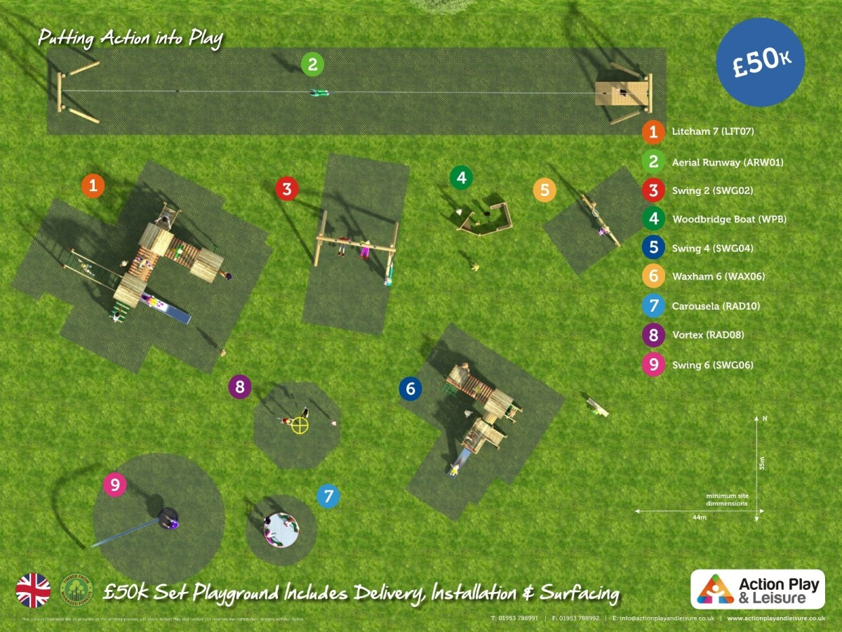 £50,000 Ready Designed Playground plan view