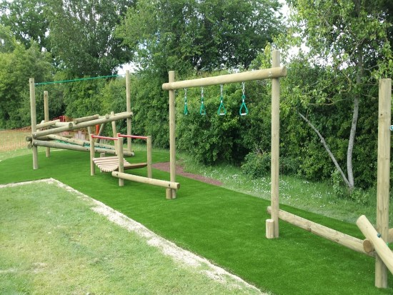 Combi 7 adventure trail and Forest stack 2 climbing frame