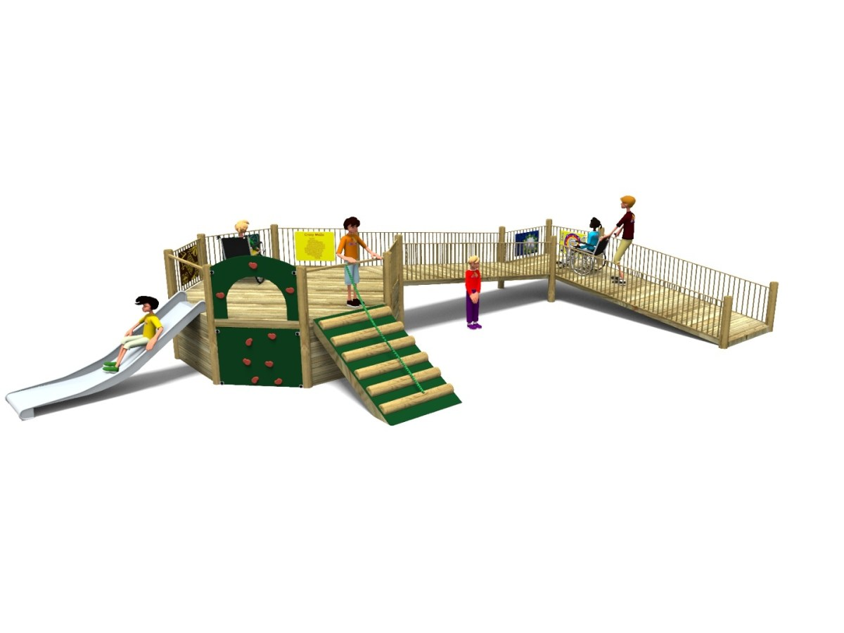 Foxley 2 Inclusive Play Tower with wheelchair ramp