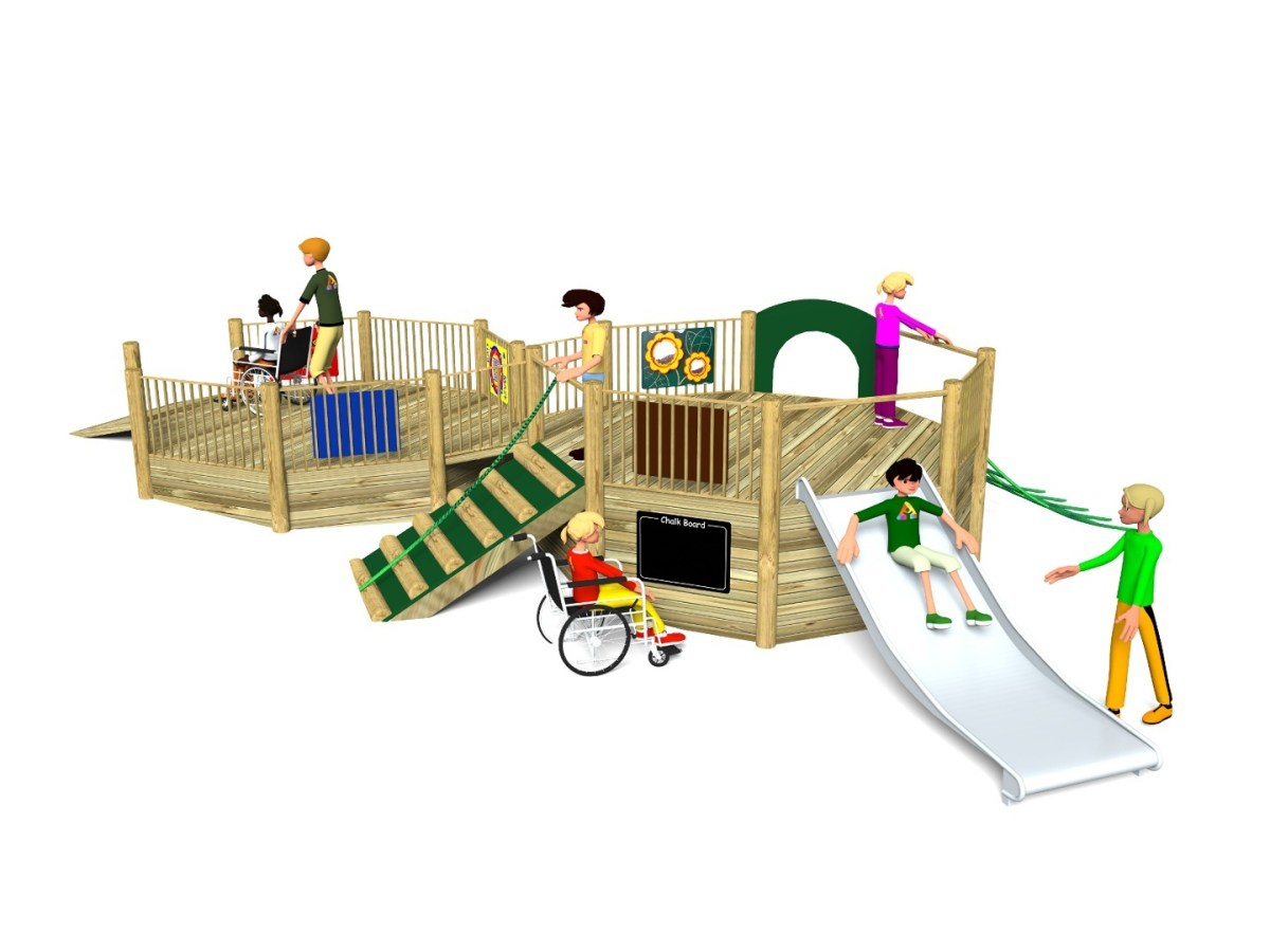 Foxley 4 Inclusive Play Tower with wheelchair ramp