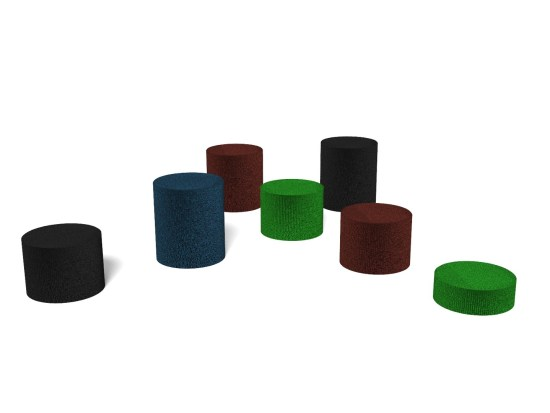 Rubber Stepping Posts