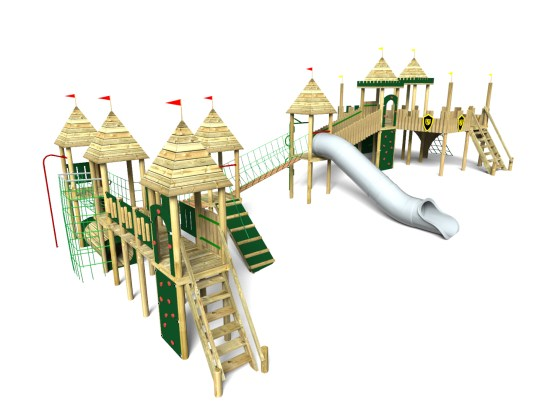 Balloon Wood Play Tower