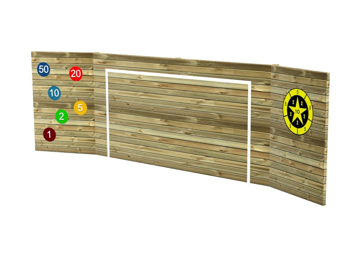 Kickwall Concrete Pad Markings